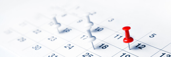 Tacks On Calendar