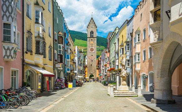 The colorful town of Vipiteno, Trentino Alto Adige, northern Italy
