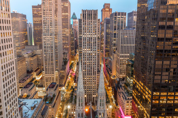 Fototapete - New York City Manhattan midtown buildings