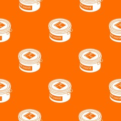 Wall paint bucket pattern vector orange for any web design best