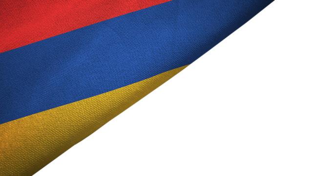 Armenia flag left side with blank copy space