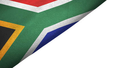 South Africa flag left side with blank copy space