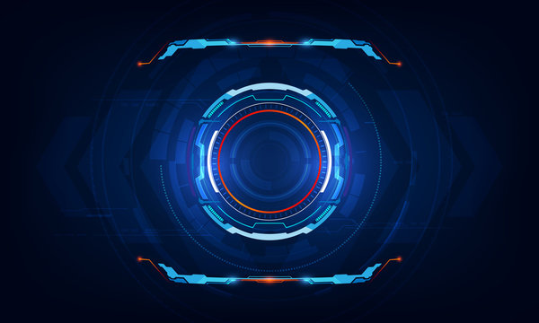 abstract hud ui virtual sci fi interface background template eps 10 vector