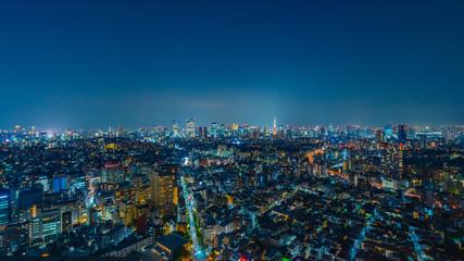 In de dag Nachtblauw 東京風景