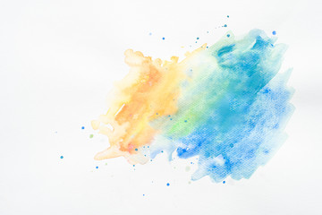 Beautiful  water colors background on white background