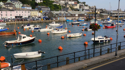 Harbour view at high tide in the summer