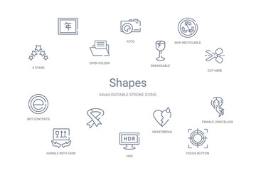 shapes concept 14 outline icons
