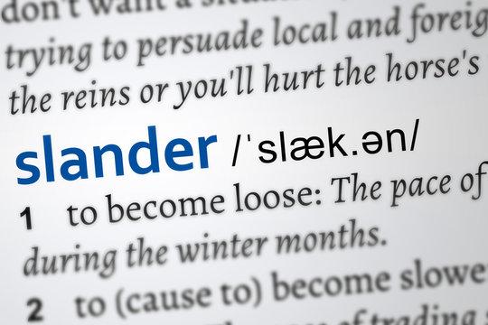 slander definition of the word