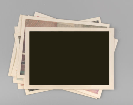 Stack of Blank vintage photos