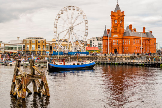 Wales UK, Cardiff Docks, rebuit Tiger Bay.