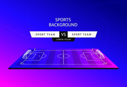 Soccer match schedule Vector illustration sports background