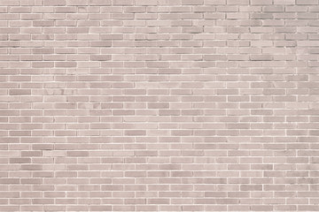 Brick wall pattern texture background in light beige red brown color