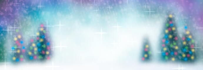 Wintery Christmas Trees Background