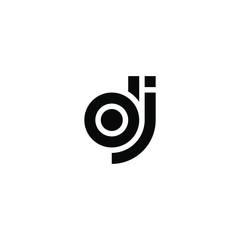 D J letter logo design