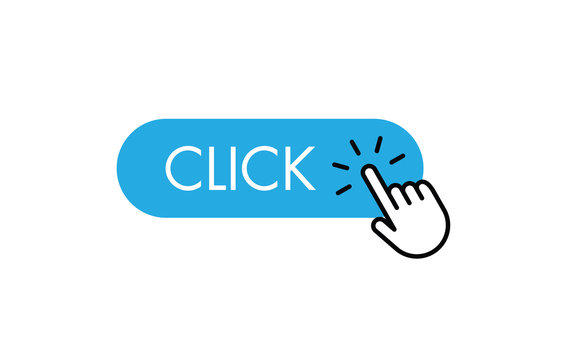 Click here button with hand clicking icon