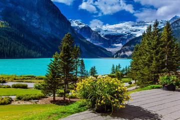 Glacial Lake Louise in Rockies