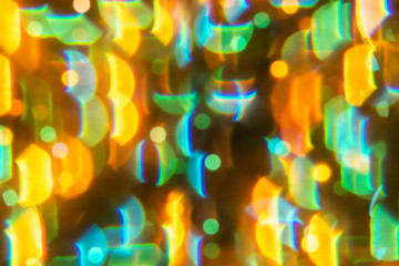 Multi colour blur bokeh crystal light abstract background.