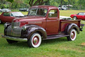 Fond de hotte en verre imprimé Vintage voitures custom car