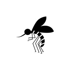 Bloodsucker mosquito insect black color icon.
