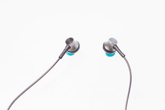 vacuum headphone isolate on white background