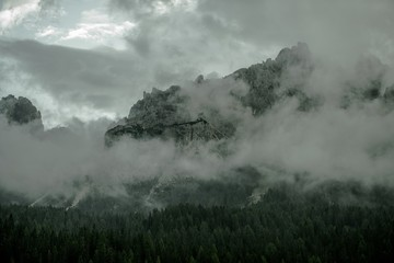Wall Mural - Foggy Mountain Range