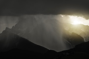 Wall Mural - Stormy Mountains Weather