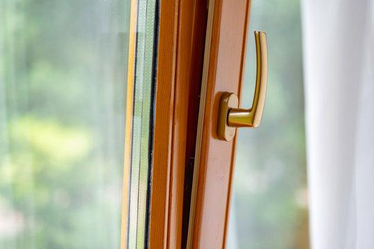 window handle and slightly open window