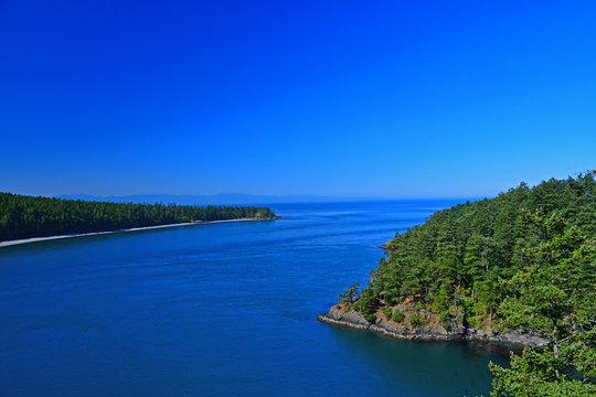 View of Deception Pass near Whidbey Island, Washington