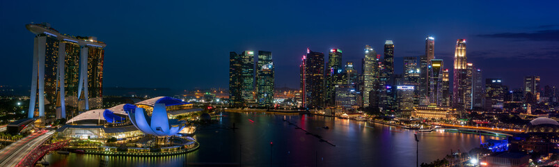 Singapore cityscape at Magic hour
