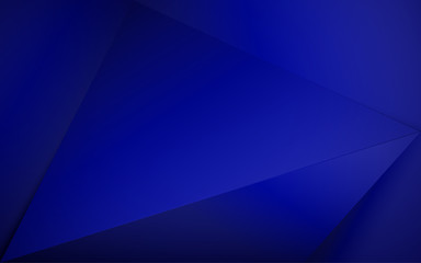 Abstract blue royal 3d polygonal background. Vector illustration