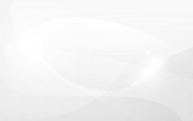 Wall Mural - Abstract curved lines white and gray color elegant background. vector illustration