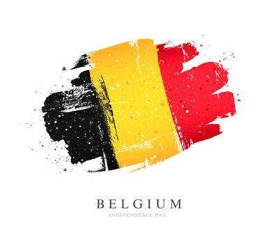 Flag of Belgium. Vector illustration on a white background.