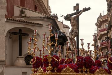 cristo de la hermandad de san Bernardo, semana santa de Sevilla