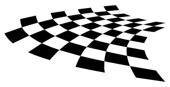 curved distorted checkerboard EPS10 vector illustration.