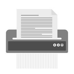 simple document shredder icon for document destrucion vector illustration