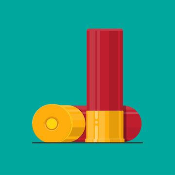 shotgun shells vector flat design.