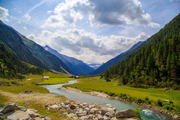The Krimmler Ache river in the High Tauern National Park, Austria