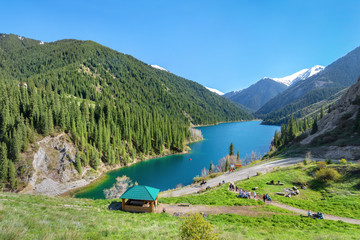 Lower Kolsay Lake in Kazakhstan