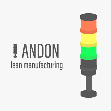Andon vector illustration. Lean manufacturing tool icon