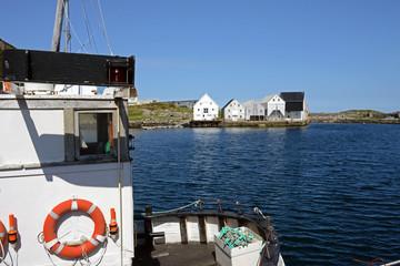 Der Hafen von Runde auf der Vogelinsel
