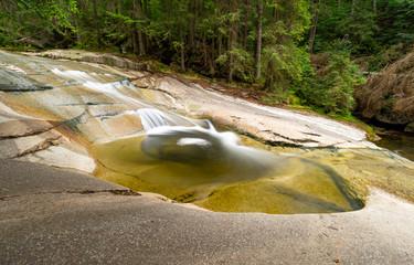 cascades on Mumlava river in Krkonose mountains in Harrachov, Czech republic