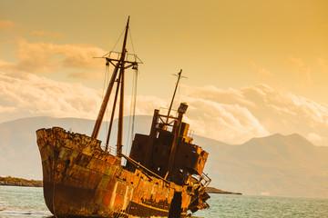 Acrylic Prints Shipwreck The famous shipwreck near Gythio Greece
