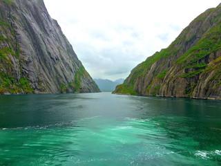 Passage through Trollfjord Mountains