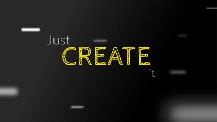Create Text creativity