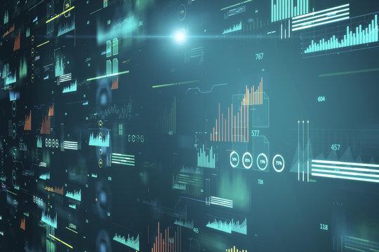 Creative big data charts texture