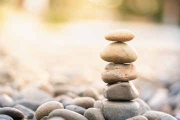 Stack of stones. Spa treatment and zen like concept