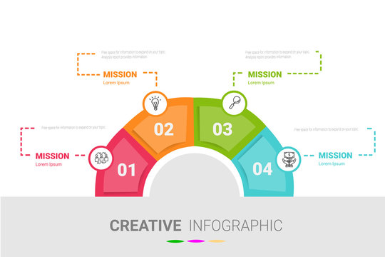 Template for cycle diagram, graph, presentation and round chart. Business concept with 4 equal options, parts, steps or processes. Startup layout for your project.