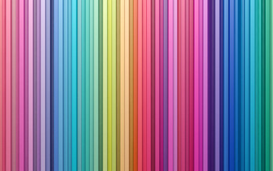 3D rendering abstract background colorful strips wall