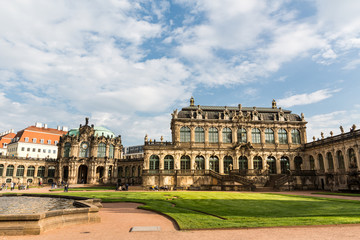 Gallery in Dresdner Zwinger, view on fountain