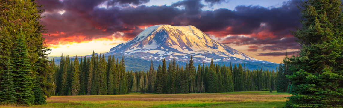 Beautiful Colorful Image of Mount Adams